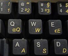 Deutsch transparente Tastaturaufkleber mit Gelben Buchstaben