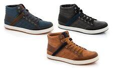 Franco Vanucci BLACK Men's Casual High Top Hi-Top Sneakers Tennis Shoes Size 10