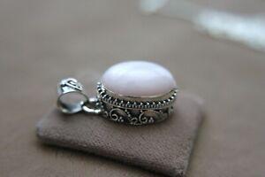 Top! Rosa Anden-Opal Anhänger, + Halskette, all 925er Sterlingsilber