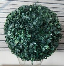 ARTIFICIAL FAUX BOXWOOD BUXUS TOPIARY BALL HANGING BASKET OUTSIDE GARDEN