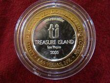 Treasure Island Las Vegas Limited Edition $10 Gaming Token .999 Silver 24K Gold
