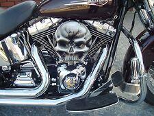 chopper bobber harley custom  skull EVO aircleaner cover