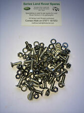 Land Rover Series 2, 2a & 3 Stainless Steel Allen Key Chequer Plate Fixings x 30