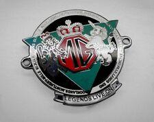 MG Badge Plakette Emblem Legends life on Midget TD TF MGA MGB RV8 Mini