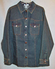 ONCE AGAIN WOMANS FANCY DENIM JEAN JACKET SZ 2X NEW WITH TAGS