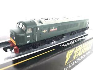 N Gauge Farish 371-585 Class 46 Diesel D163 ' LEIC & DERBYS YEOMANRY' GREEN