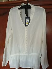 Women Ivory Victorian Style Top by M&S size 16