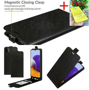 Magnetic Leather Flip Case Up &Down Vertical A21S A12 A22 A32 A52 5G S20FE Cover
