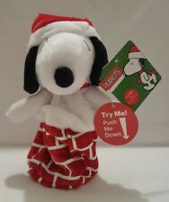 "Dan Dee Peanuts Christmas Pop-Up Snoopy Music 8"" Plush Stuffed Animal New"
