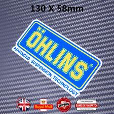 OHLINS Moto Scooter Casco Adesivi Decalcomanie Laminato Vinile 130mm N035
