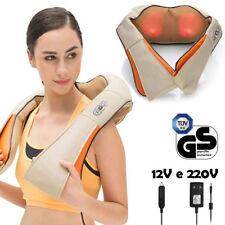 Massaggiatore Elettrico Riscaldante Cervicale Massaggio Spalle Schiena Casa Auto