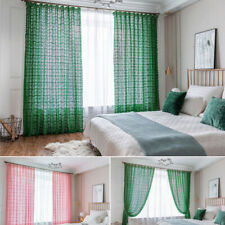 Retro Style Crocheted Curtain Room Divider Window Panel Sheer Screen Living Room