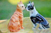 Vintage Best Friends Cat and Dog Figurines