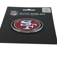 New NFL San Francisco 49ers Auto Car Truck Heavy Duty Metal Color Emblem