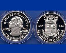 Silver PESETA GUANICA  2009 Puerto Rico Boricua Quarter 1/100 Plata
