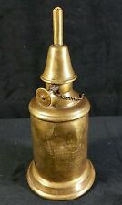 "French Antique 1885 Brass Oil Lamp 7"" x3 1/8"" Lampe-Pigeon Paris Repairs & Dents"