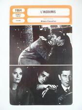 CARTE FICHE CINEMA 1964 L'INSOUMIS Alain Delon Léa Massari Georges Géret Maurice