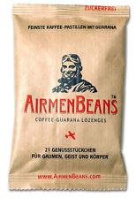 Airmen Beans Pastillen 21 Stück feinste Kaffee Pastillen Guarana Wachmacher NEU