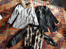 winter mantel jacke block 3 winter coats and jacket LOT OF 3 used fur leather