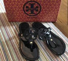 Tory Burch Miller Black Patent Leather Sandal Size 10M