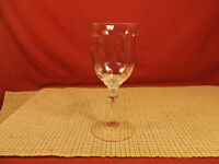 "Heisey Crystal Fairacre Clear Pattern Water Goblet 7 1/4"" x 3 3/8"""
