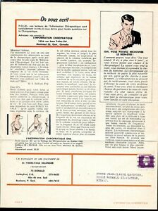 a027 - Canada 1967 College of Chiropractors Periodical. 3c Cameo Issue PRECANCEL