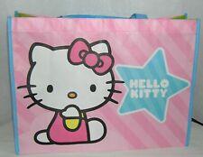Hello Kitty Shopping Tote Gift Bag Sanrio 2014 Large Pink Nylon Reusable NWT