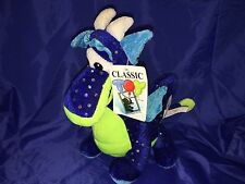 "New Classic Toy Co Blue And Green Sparkly Dragon 10"" Plush Toy Stuffed Animal"