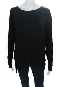 Vince  Womens Silk Long Sleeve Knit Top Dark Blue Size Small