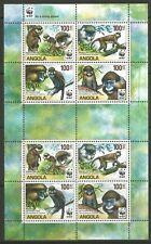 STAMPS-ANGOLA. 2011. WWF Endangered Species Monkeys Sheetlet. SG: 1806/09. MNH
