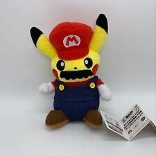 "Pokemon Mario Pikachu Crossover Mario Plush Soft Toy Stuffed Animal Teddy 8.5"""