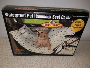 Pet Store Waterproof Pet Hammock Seat Cover Protects auto's upholstery paw print