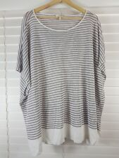 EILEEN FISHER sz 20  (or  2X ) womens  Striped Linen Top [#2313]