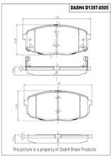 Disc Brake Pad Set-PREMIUM CERAMIC PADS Front Dash 4 Brake CFD1397