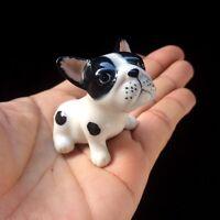 New French Bulldog Ceramic Figurine Handmade Collectibles Miniature Gift Charm#1