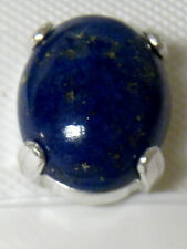 2.50ct NATURAL blue lapis 925 sterling silver tie tack tie bar clasp USA