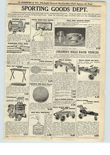 1926 PAPER AD Rolls Racer Toy Play Pedal Car Air Mail Airplane Coaster Wagon