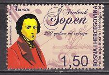 BOSNIA&HERZEGOVINA 2010** MNH SC #  Music - 2nd Centennial of Frederic Chopin