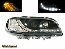 S40/V40 1995-2004 95-04 Projector Headlight LED DRL R8 Look Black for VOLVO