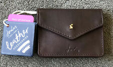 New Joules Bailey Leather Coin Purse in Oxblood RRP £30
