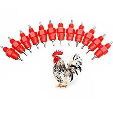 8 Pcs Chicken Drinker Feeder Duck Hen 360 Degree Screw In Poultry Nipple Water