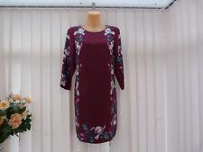 BNWT Monsoon Claudette silk blend burgundy dress sz 12