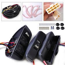 Universal 12V Power Window Lock Kit 4 Rocker Switch Fit for Any Car 4 Doors