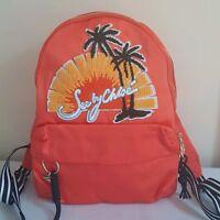 SEE BY CHLOE ORANGE Nylon Andy Backpack Adjustable Straps Gold Tone Hardware