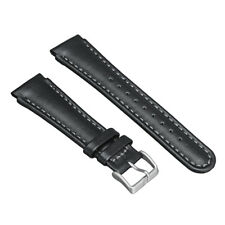 22mm Leather Watchband Watch Bands Black Replace for Suunto X-LANDER Strap