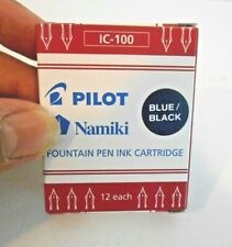 Namiki Pilot Fountain Pen Ink Cartridges 12-pk  Blue/Black IC-100