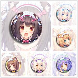 """Nekopara Chocola Vanilla Maple Cinnamon Cute Badges 6 Pieces Pins Schoolbag 2.3"""""""
