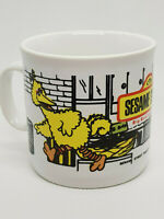 SESAME STREET Big Bird And Oscar 1985 Muppets JIM HENSON Mug Cup EXCELLENT
