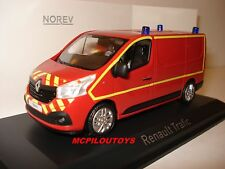 NOREV RENAULT TRAFFIC 3 VAN / WAGON FIREFIGHTERS Firefighters 2014 au 1/43°