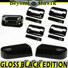 2004-2008 FORD F150 GLOSS BLACK Door Handle 2KH noKP+Top Mirror+Tailgate Covers
